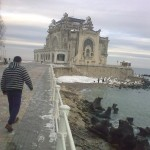 Snow in Constanta, Romania — 22/Jan/2012
