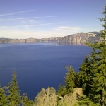 crater lake, rim village, oregon, usa