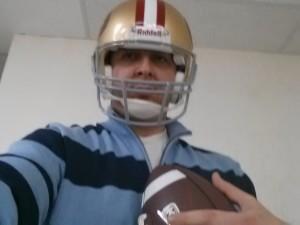 Liv with San Francisco 49ers NFL helmet20121217_185102 Liv with San Francisco 49ers NFL helmet