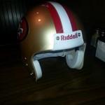 49ers nfl helmet
