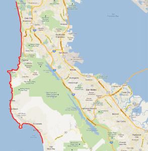 Google Maps: Hike, Coastal Bay Area